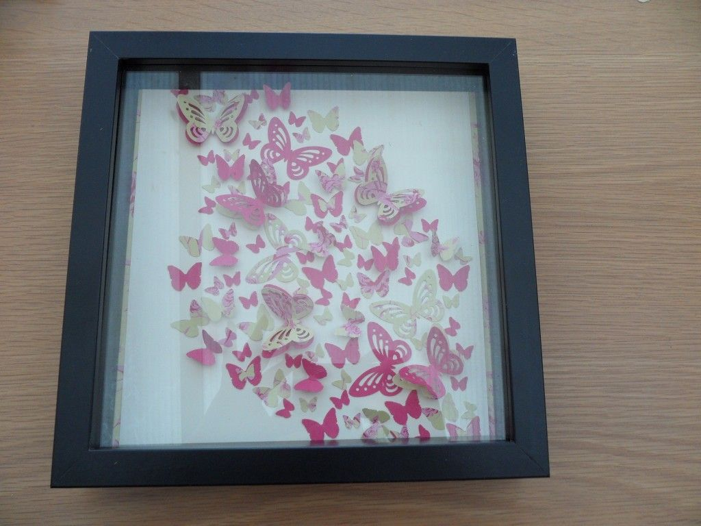 DIY cool butterfly picture for a decoration. | Crafty ideas | Pinterest