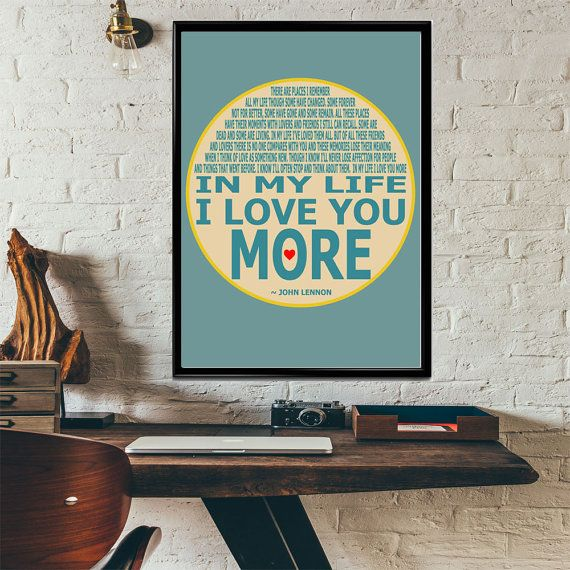 beatles wall art in my life beatles song lyric poster by on poster my wall id=24311