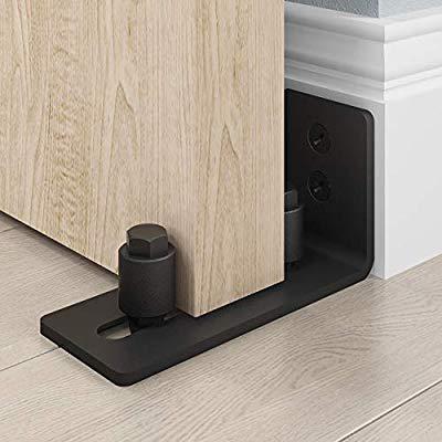 Amazon Com Easelife Heavy Duty Sliding Barn Door Floor Guide Adjustable Roller Wall Mount System Flush Bottom Design In 2020 Barn Door Barn Door Hardware Door Handles