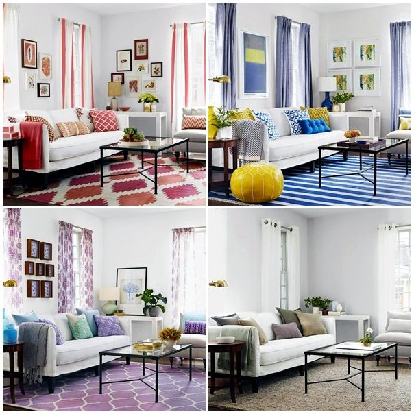 A Living Room 3 Cheap Interior Design Ideas In Different Colors | Colorful  Interiors | Pinterest | Interiors