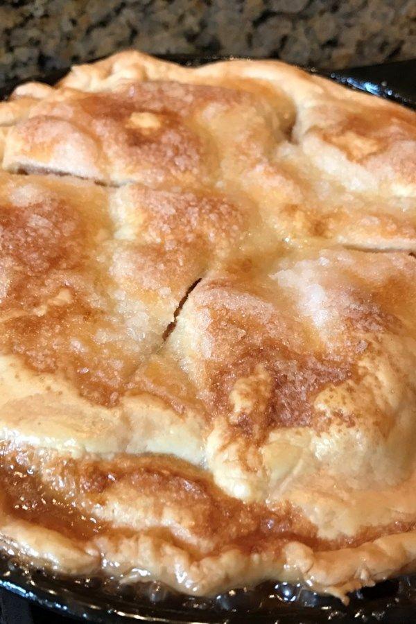 Grandma's Iron Skillet Apple Pie #applepie
