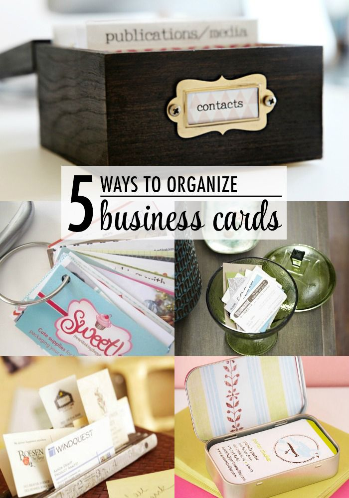 Clever business card storage ideas organization pinterest 5 ways to organize business card office organization ideas colourmoves