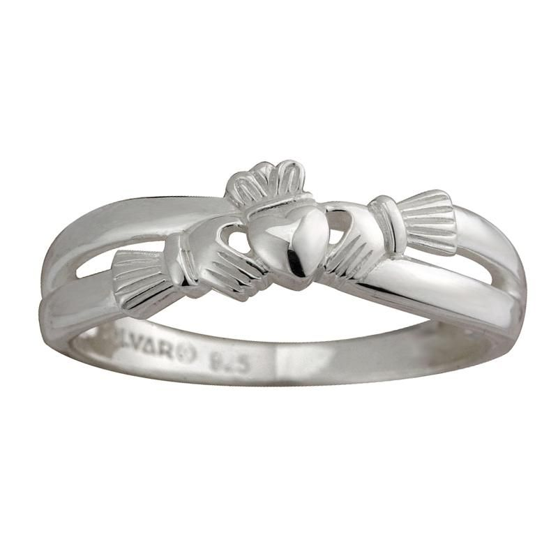 Solvar Jewelry Sterling Silver Claddagh Kiss Ring Jewelry Rings At