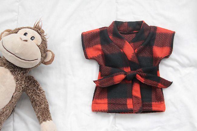 stuffed animal & teddy bear robe {free sewing pattern | Teddy bear ...