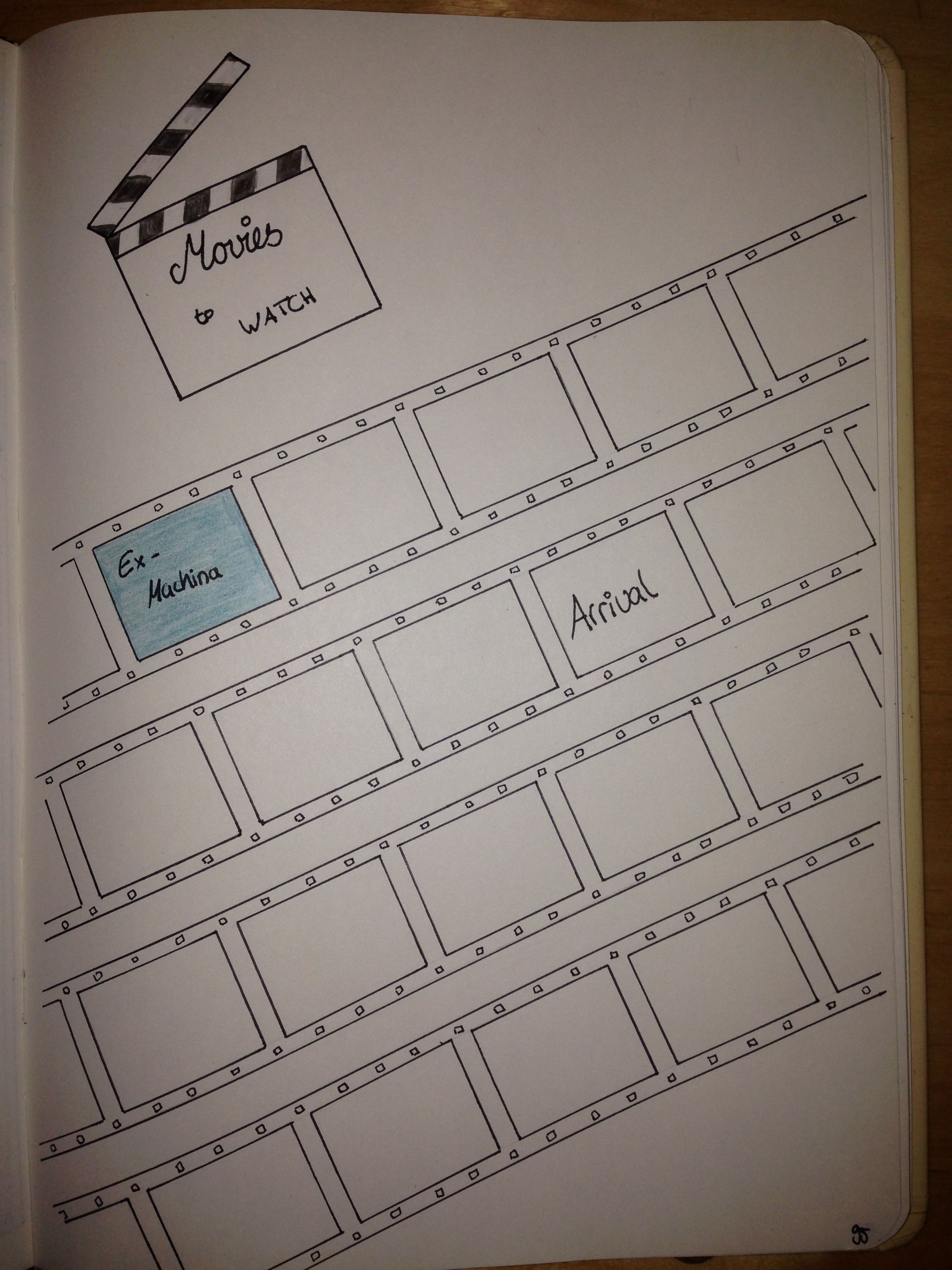 Movies To Watch Liste Bullet Journal Bujo Bulletjournal Movies