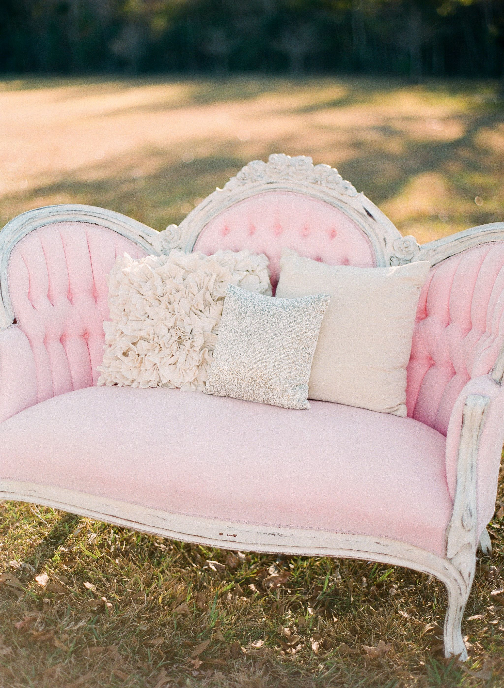 Couch Shabby Chic Pink And Gold Wedding Inspiration For The Home Shabby Chic