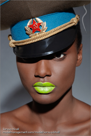 neon lime green lips
