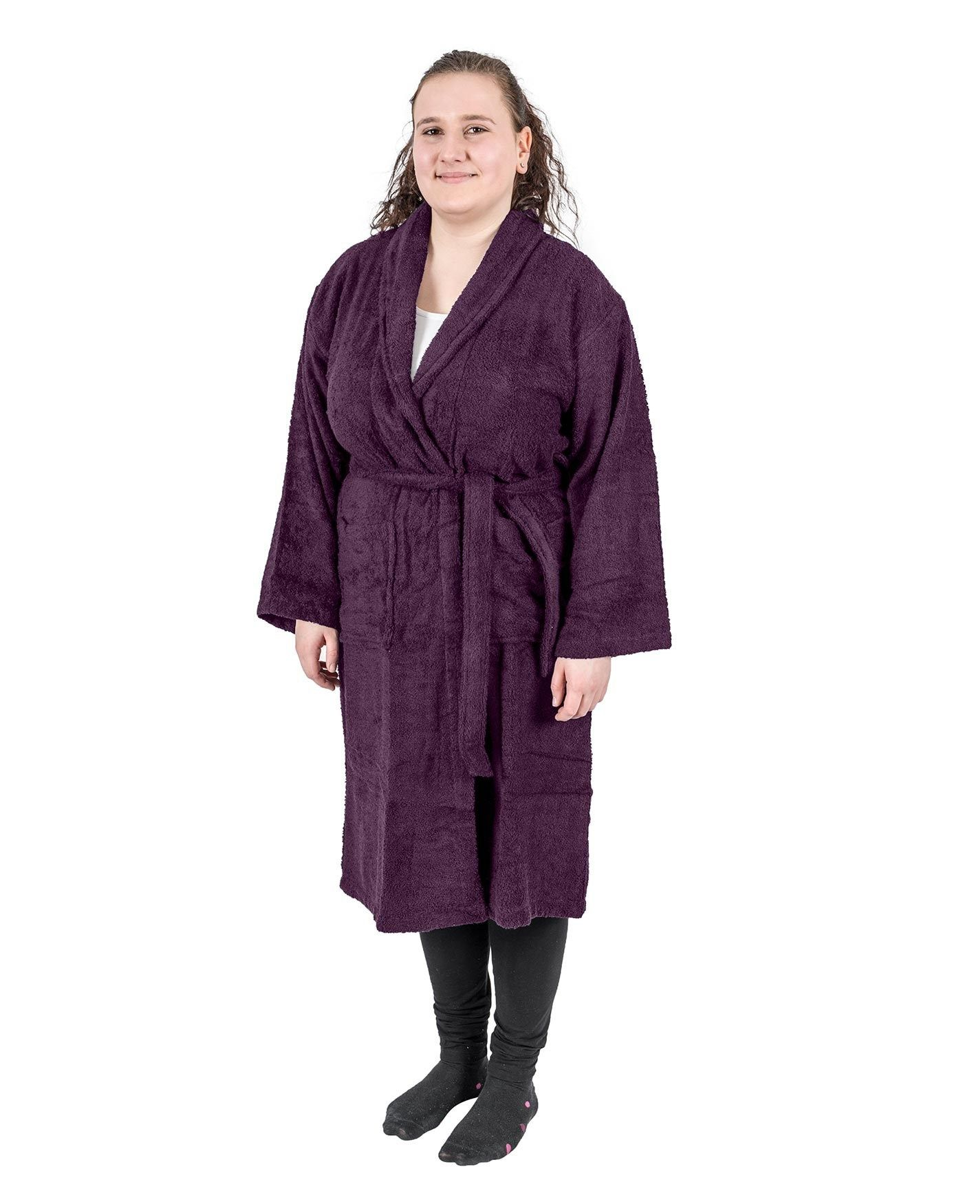 Grape 100% Egyptian Cotton Terry Towelling Adults Shawl Collar ...