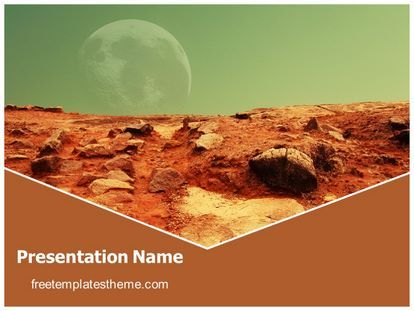download free mars red planet powerpoint template for your