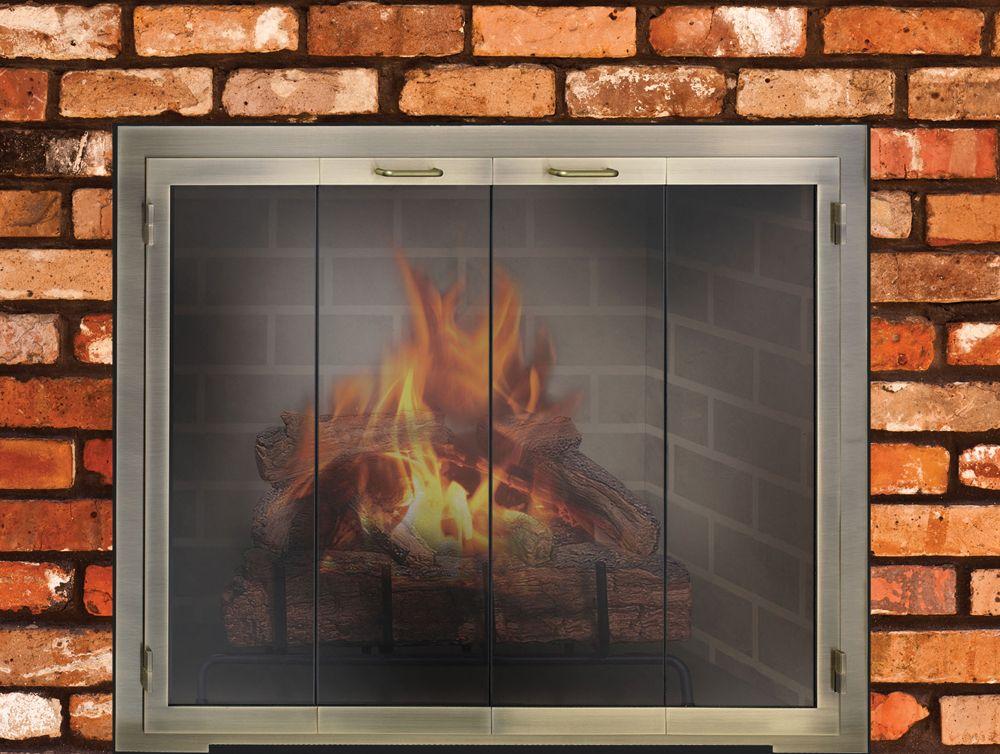 Custom Legend Door Masonry Fireplace Masonry Fireplace Fireplace Design Fireplace Glass Doors