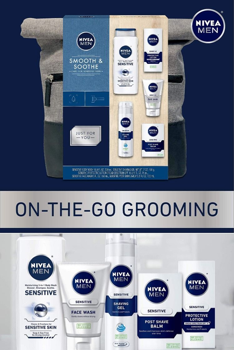 Nivea Men Dapper Duffel Gift Set 5 Piece Collection Of On The Go Grooming Needs Gift For Men Gel Face Wash Nivea Mens Gifts