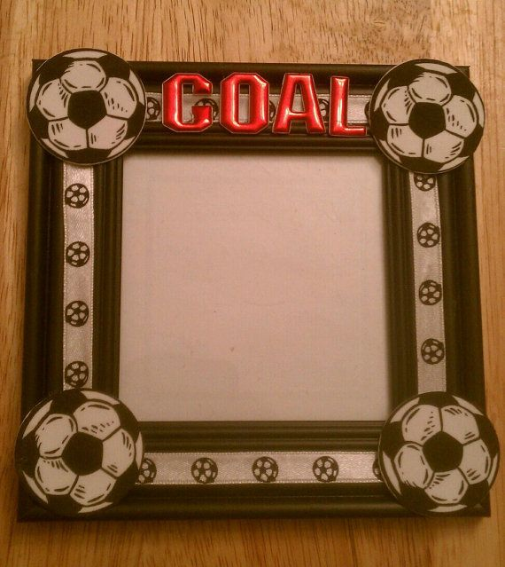 4x4 Soccer Goal Picture Frame By Fancifulframes On Etsy 6 00 Soccer Crafts Soccer Goal Soccer Gifts