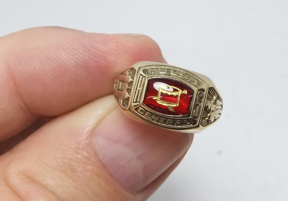10K Solid Gold Tulsa Oklahoma Central High School 1964 Class Ring