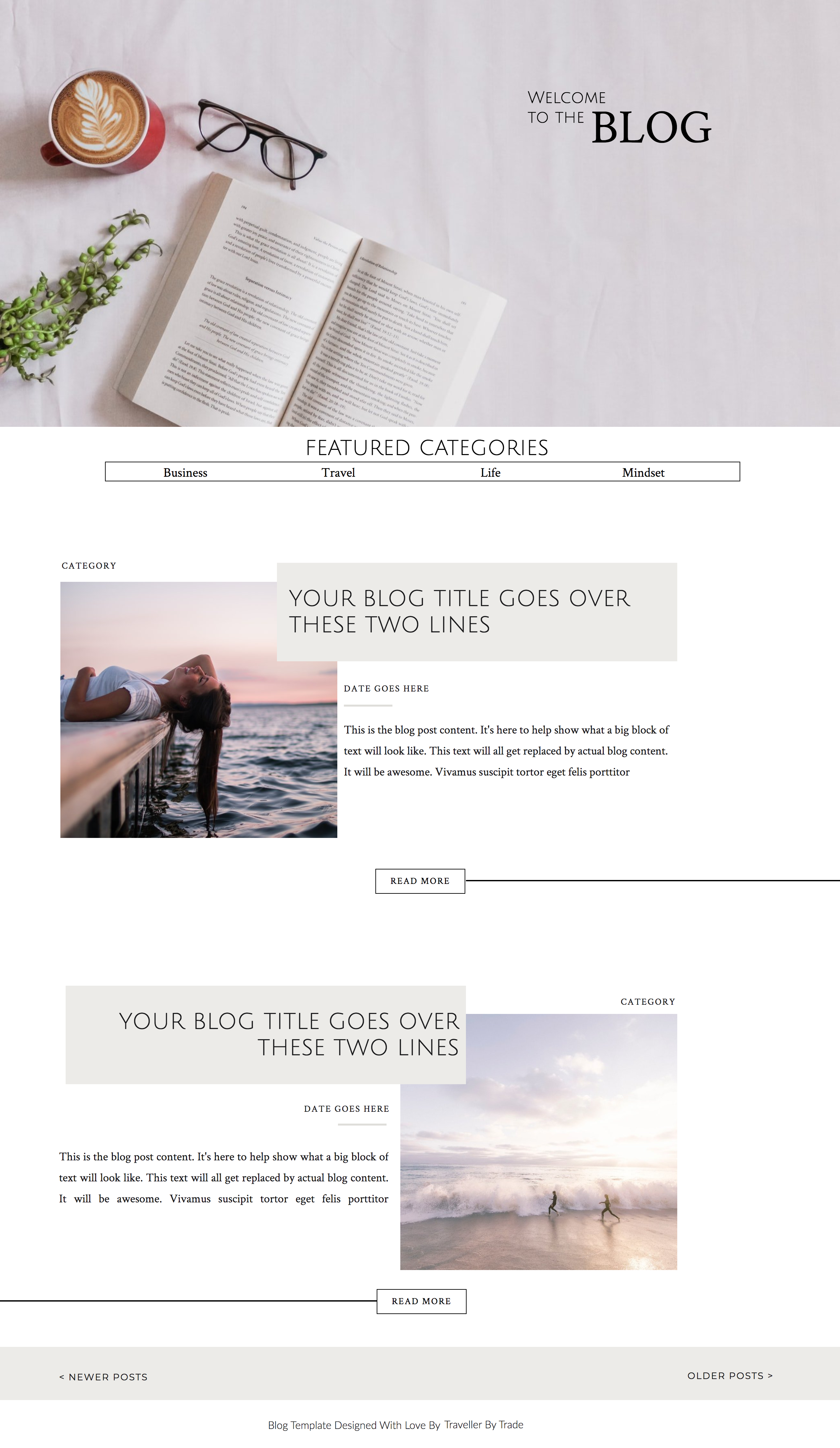 Blog Template For Showit Websites By Traveller By Trade In 2020 Web Design Programs Blog Template Design Website Inspiration