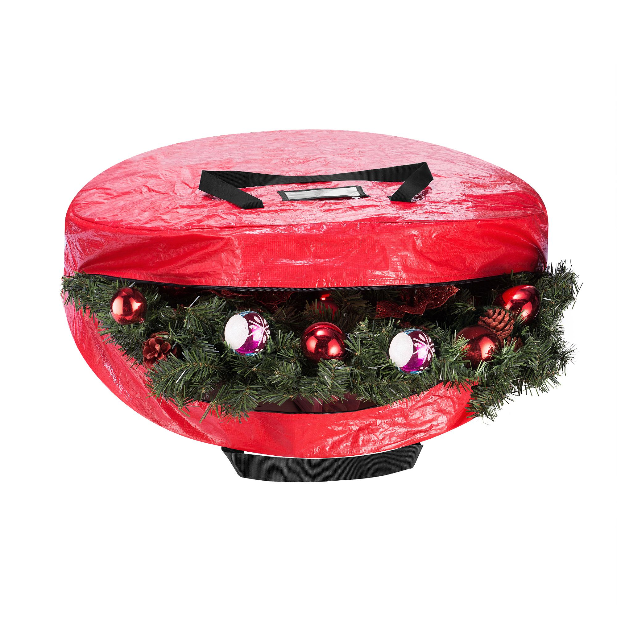Christmas Tree And Wreath Combo Storage Bag Holds Up To 9 Ft Tree And 30 Diameter Wreath Tear Proof Holiday Decor Organization By Elf Stor Red Walmart Co Christmas Tree Storage Bag Christmas