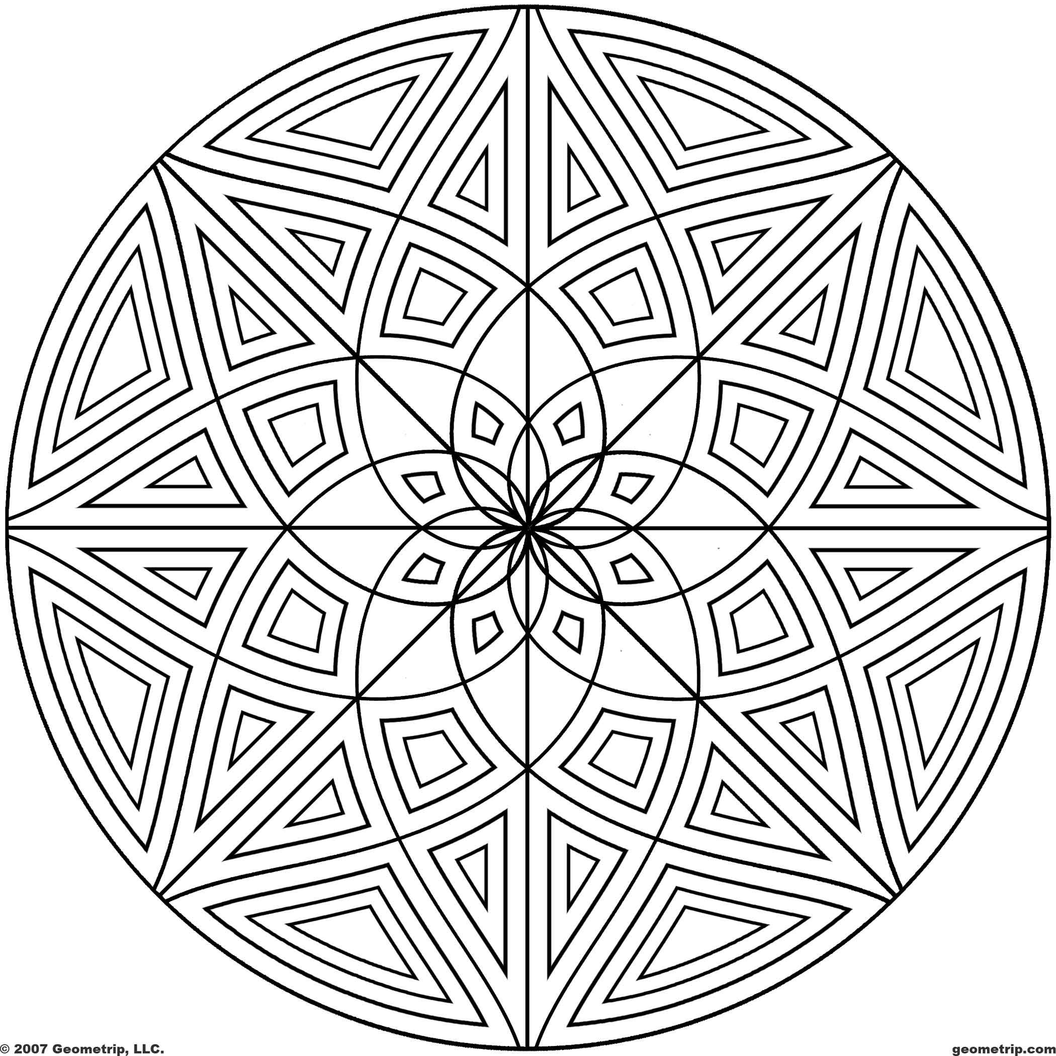 free coloring pages geometric designs coloring pages of cool designs download pdf jpg - Coloring Pages With Designs