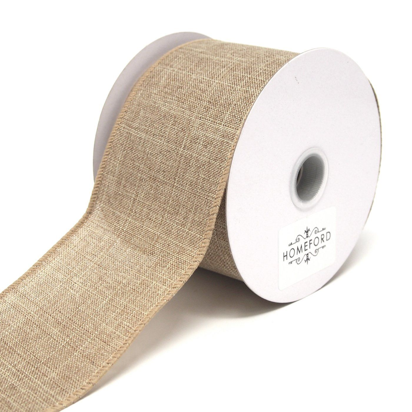 10 Yards Plain Canvas Ribbon Wired Edge
