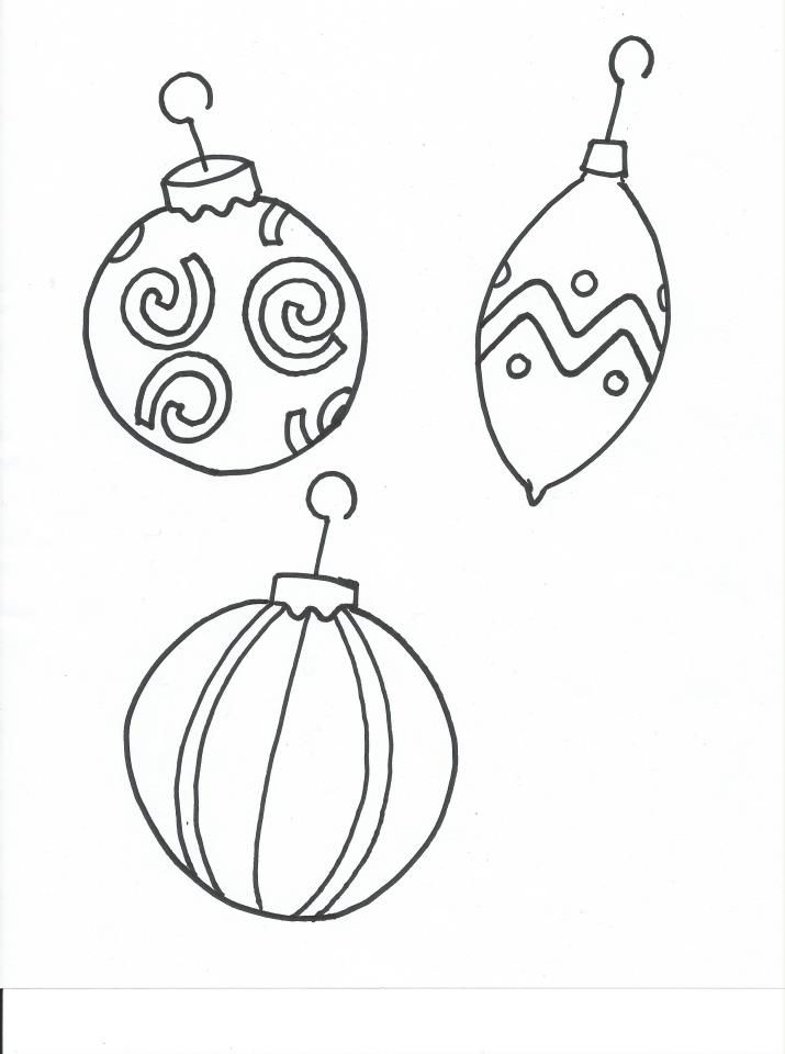 Christmas ornament coloring page for kids | Holiday | Pinterest