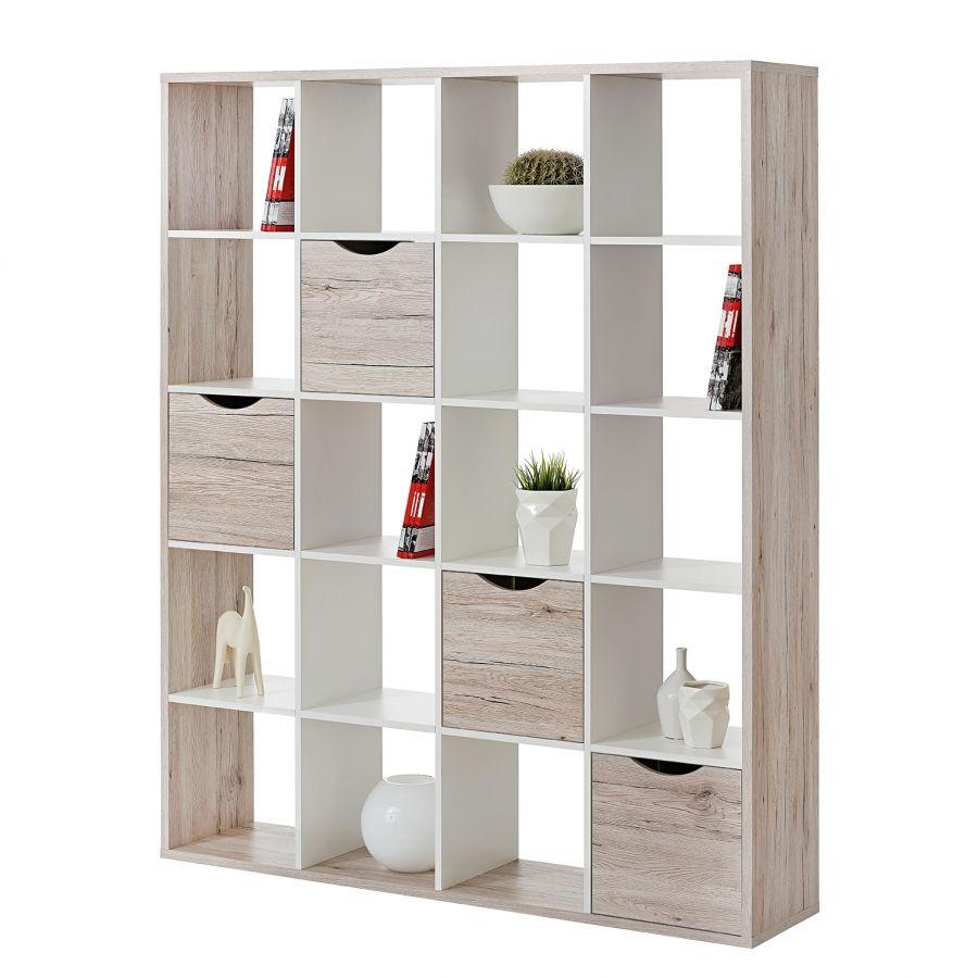 raumteiler annecy sandeiche wei 145 cm 181 cm. Black Bedroom Furniture Sets. Home Design Ideas