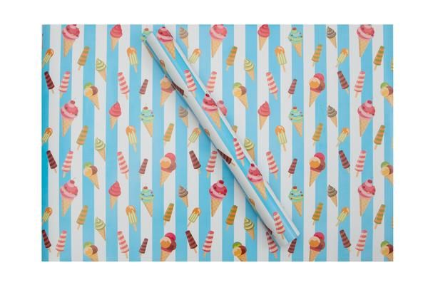 Yummy and colourful ice creams on this fabulous stripywrapping paper. Make gift giving fun with Dots and Doodleswrapping paper. They'll love the wrap as much