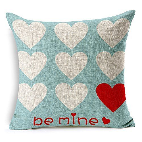 Love Hearts Be Mine Home Decor Throw Pillow Case Cushion Valentines Pillows Decorative Throw Pillow Covers Throw Pillows