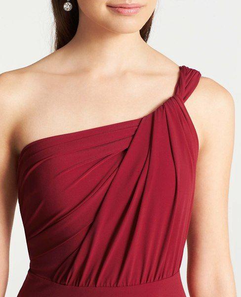 Jersey One Shoulder Bridesmaid Dress | Ann Taylor | Wedding ...
