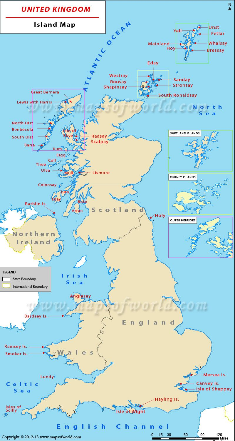 UK Islands Map Showing All The Islands Located In United Kingdom - Map ng united kingdom