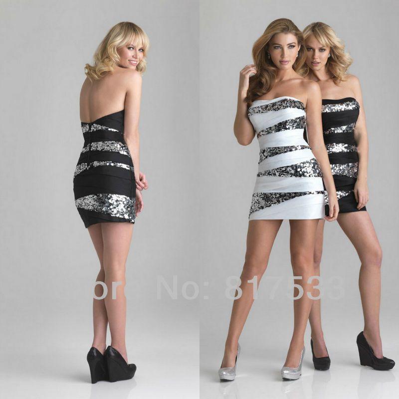 963b1d6e16 white formal dresses juniors short tight white dress beaded bandage  strapless fit black sequin sheath mini