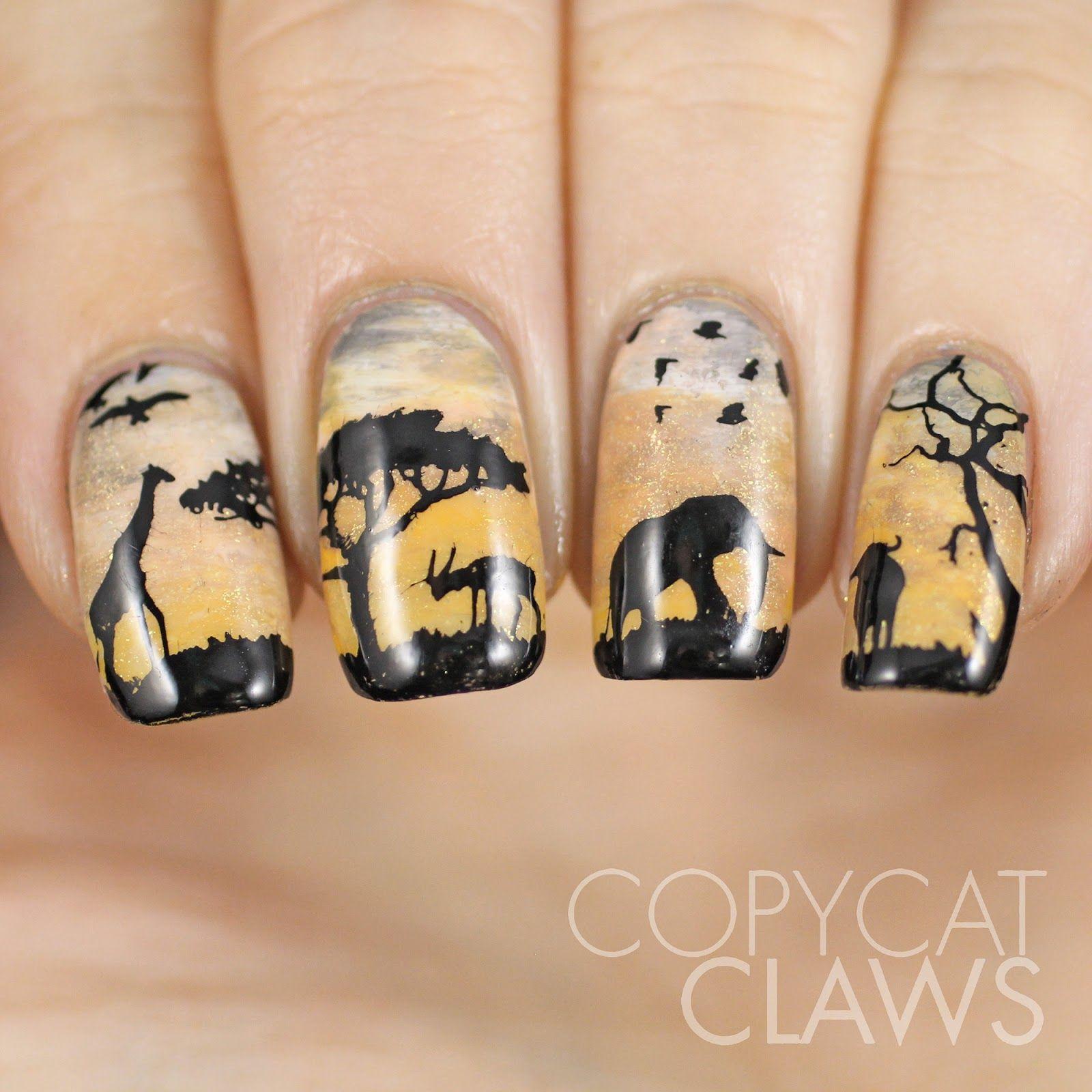 Sunday Stamping - Wildlife Nail Art (Copycat Claws)   Wildlife, Nail ...