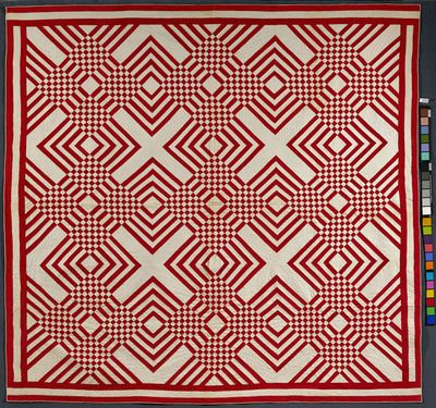Carpenter's Square Quilt Artist unidentified, USA 1880 - 1900 ... : red and white quilt patterns - Adamdwight.com