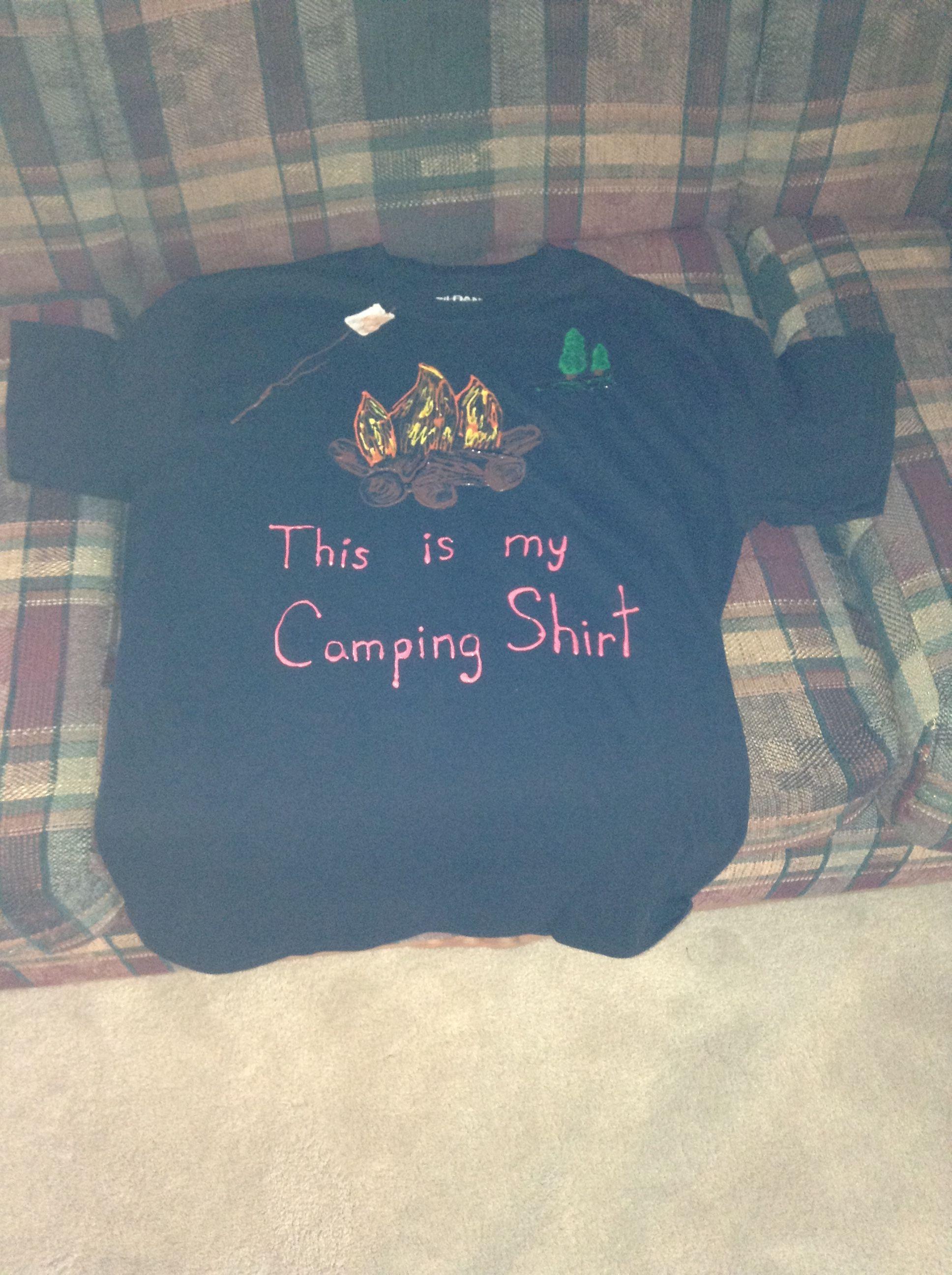 Puffy Paint Camping Shirt Puffy Paint Shirts Puff Paint Shirts Puffy Paint