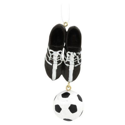 d1d8bcd1511 soccer ball   shoes ornament  soccer  ornament  Christmas  5.99 ...