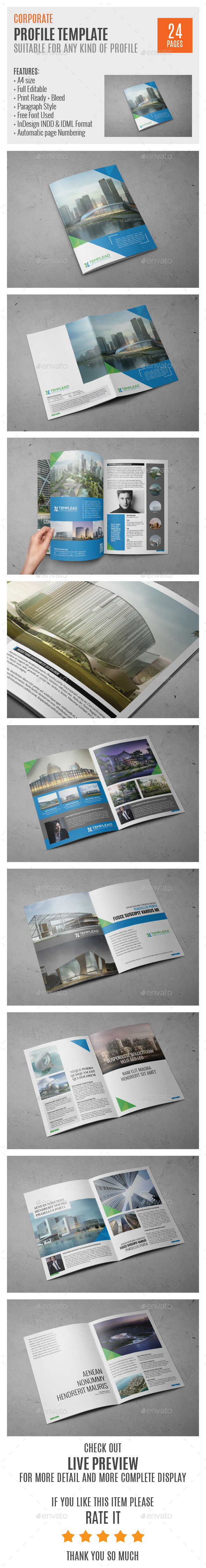 Corporate Profile A4 InDesign Template 0032