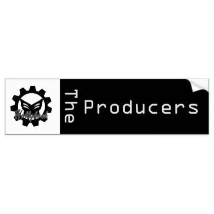 Hollyhock the producers magnet bumper sticker black gifts unique cool diy customize personalize