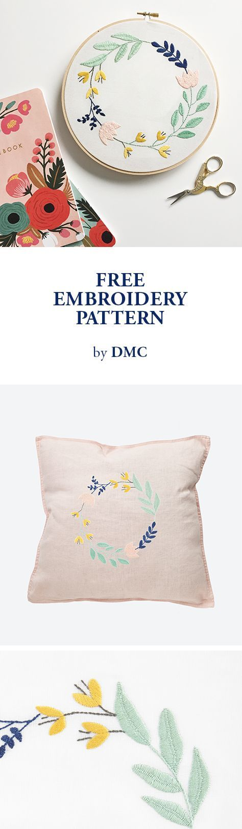 Free Embroidery Pattern From Dmc Embroidery Ideas Embroidery For