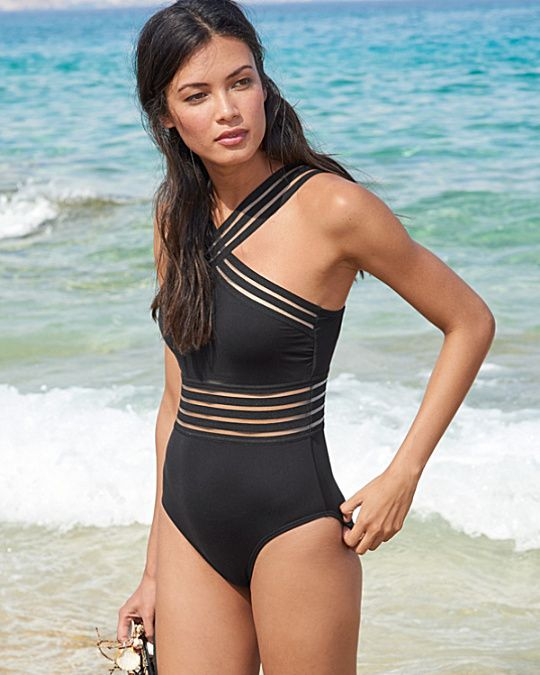 70227fd75e Kenneth Cole Stiletto High-Neck Mio Swimsuit | the closet 2 ...