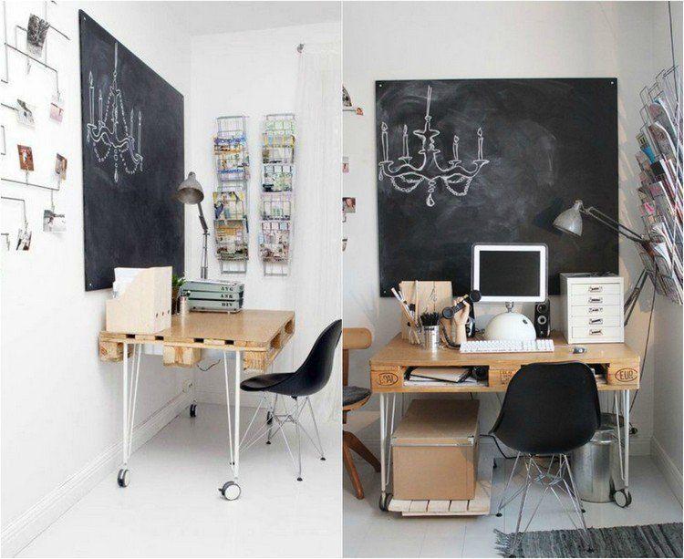 Épinglé par balthazar sur bureau en palettes bureau
