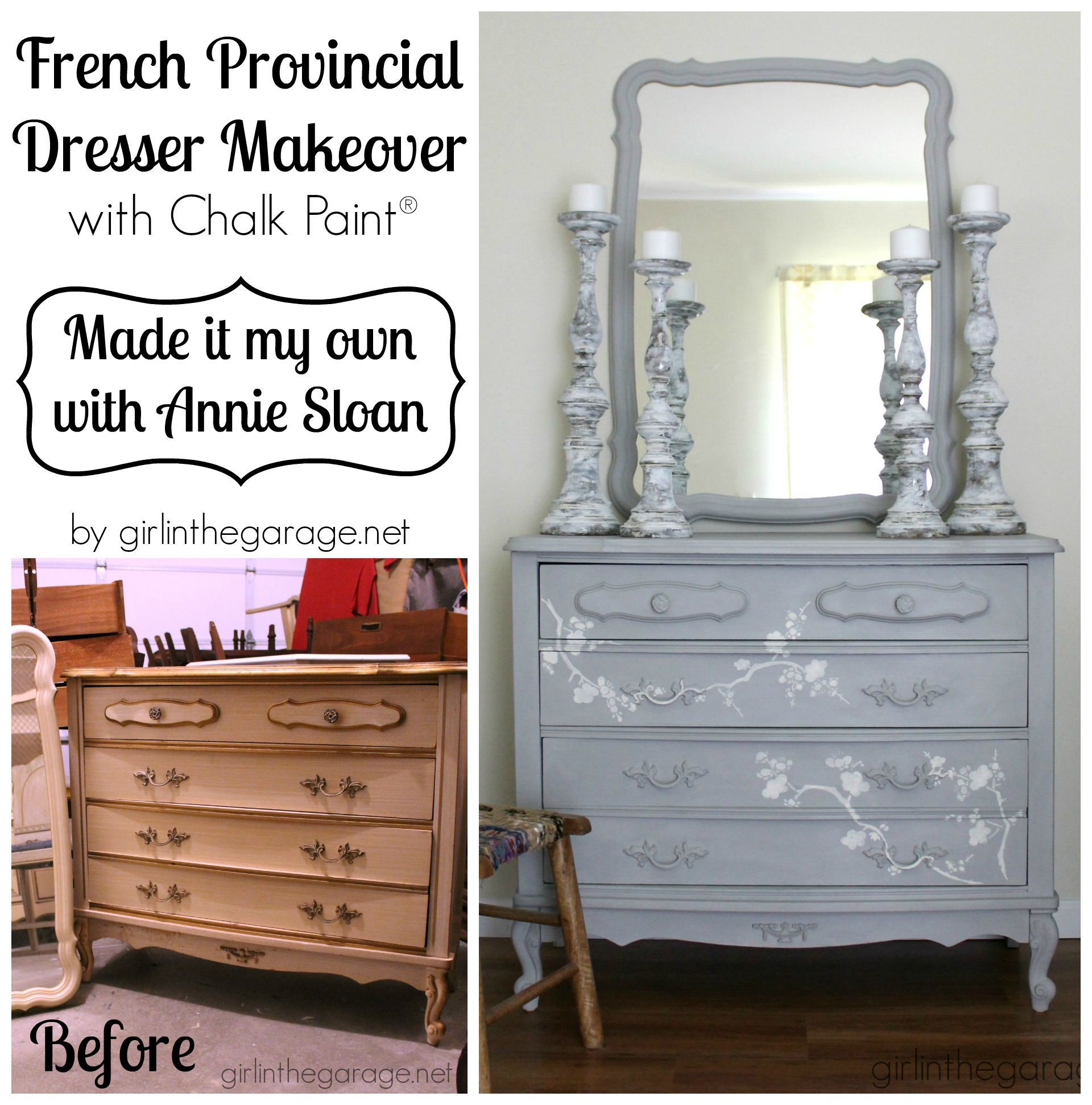 French Provincial Dresser Makeover With Chalk Paint Decorative Paint By