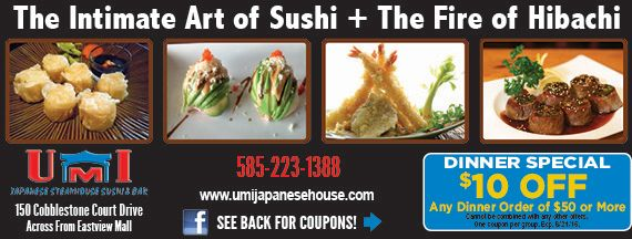 Umi Japanese Steakhouse And Sushi Coupons Victor Ny Rochester