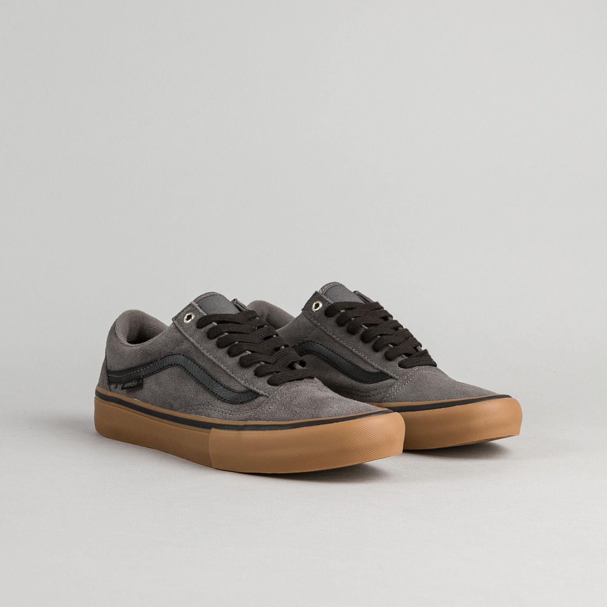 Vans Old Skool Pro Shoes - Grey / Black / Gum