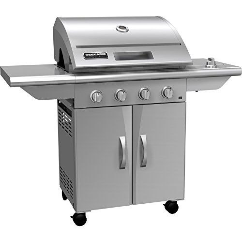 Black Decker Jxg4604ss Gas Grill 4500 Series With Four Burner 228 By 553 By 477 Stainless Steel Learn More Gas Grill Black Decker Outdoor Cooking Grills