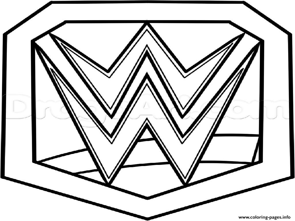 Print Wwe Championship Belt Official Coloring Pages With Images