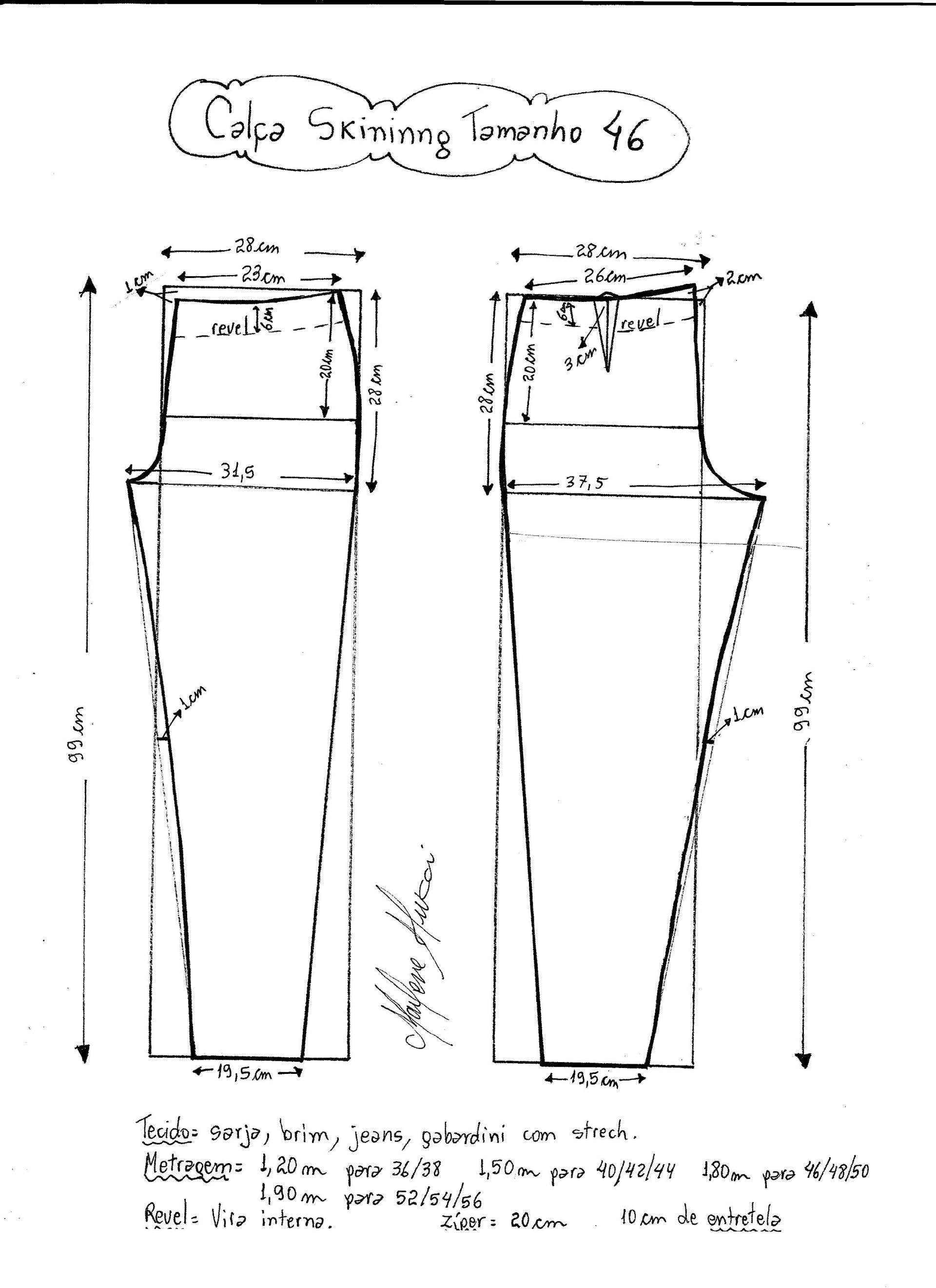 Patrón de pantalones ajustados | PATRONLU DİKİŞ | Pinterest ...