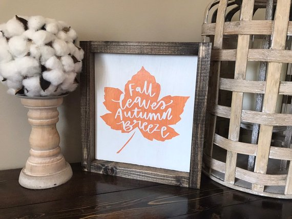 Fall Wood Signs Fall Leaves Fall Wood Signs Signs For Home Signs For Wall Fall Home Decor Fall Wood Signs Fall Signs Fall Halloween Decor