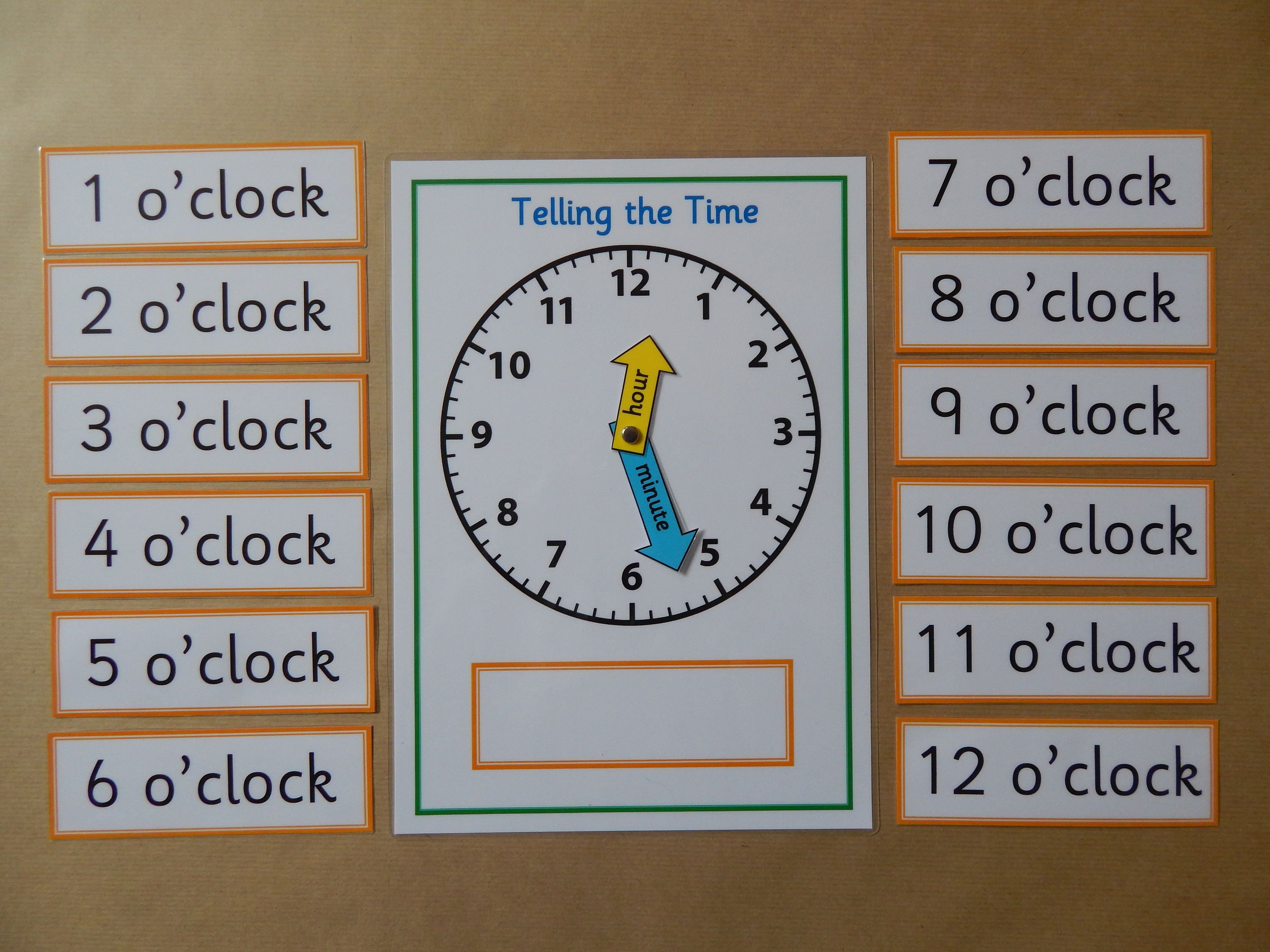 Telling The Time This Listing Is For A Homemade A4 Mat And