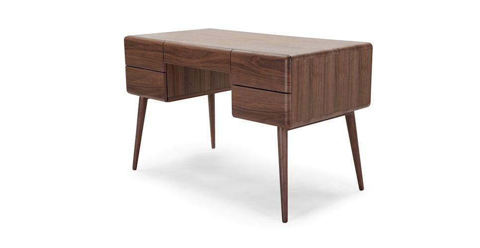 Paco Schreibtisch Walnuss Schreibtischideen Schreibtisch Tisch