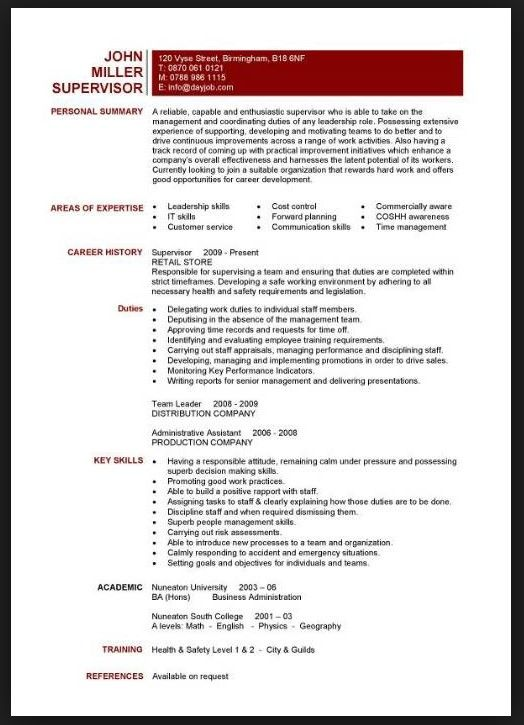 skills section of resume for teachers resume pinterest