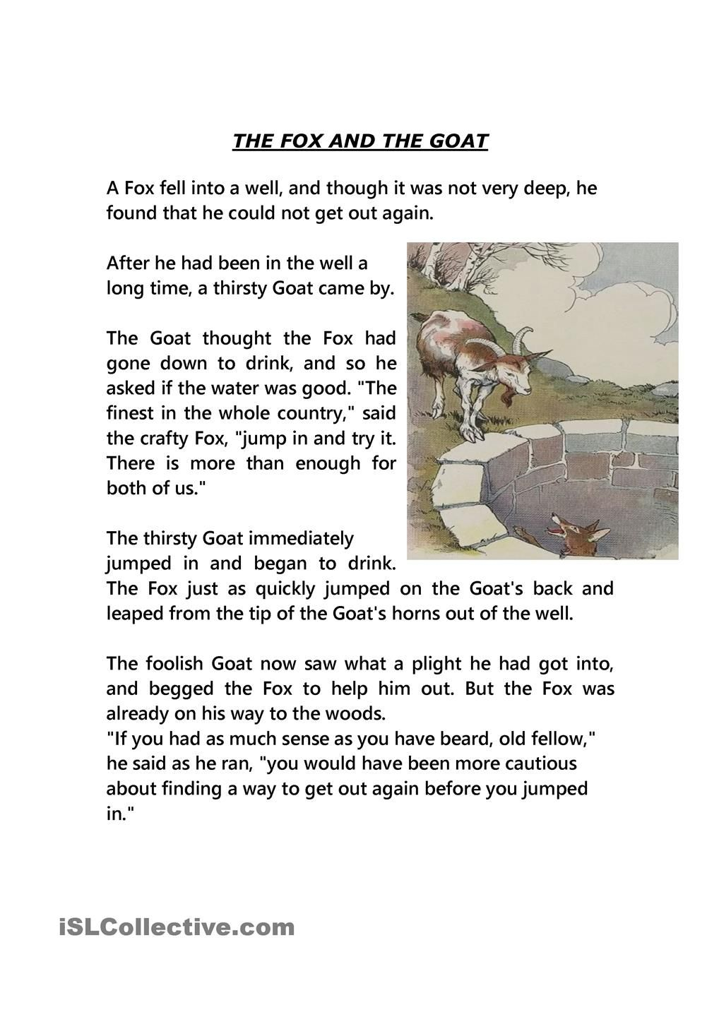 Two Fables English Stories For Kids Fables For Kids English Short Stories [ 1440 x 1018 Pixel ]