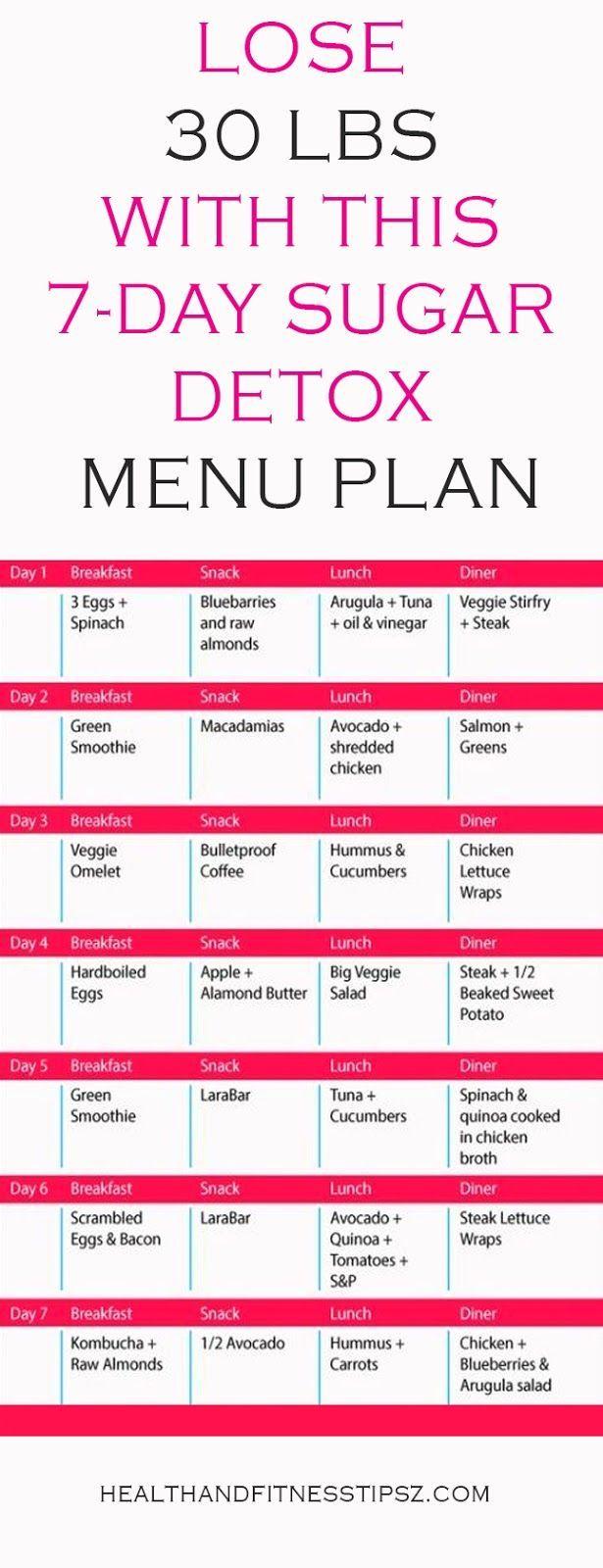 LOSE 30 LBS WITH THIS 7DAY SUGAR DETOX MENU PLAN  Free Health Tips