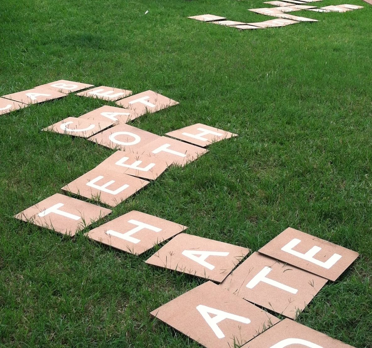 Learn how to make liquid sidewalk chalk, a backyard fort, and play backyard  scrabble to make this summer tons of fun!